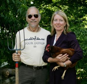 Urban Farmers Will and Jeana (Credit: Julie Leonard, News and Observer)